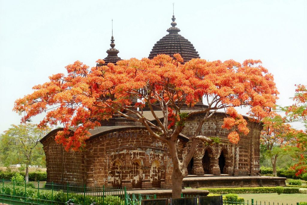 Bishnupur Amazing temple at the season of autum