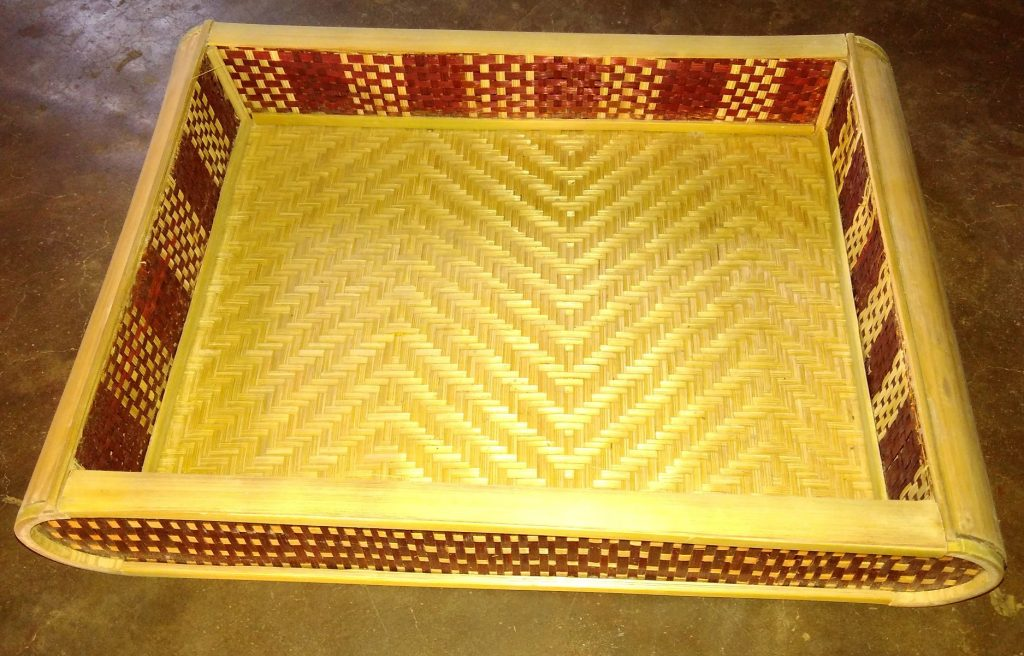 Bamboo Work colourful tray