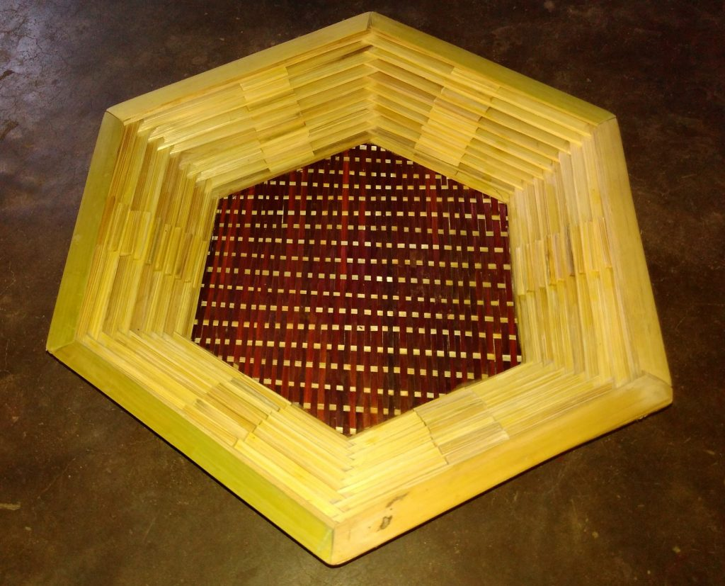 Bamboo Work of two tone colour tray