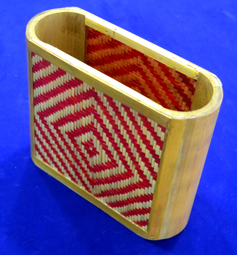 Bamboo Work of colorful pen stand