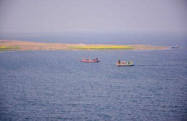 Mukutmanipur long view of lake