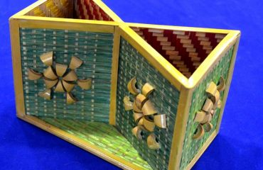 Bamboo Work of two storage pen box