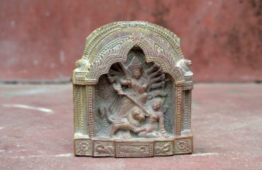 Stone carving of traditional durga murti