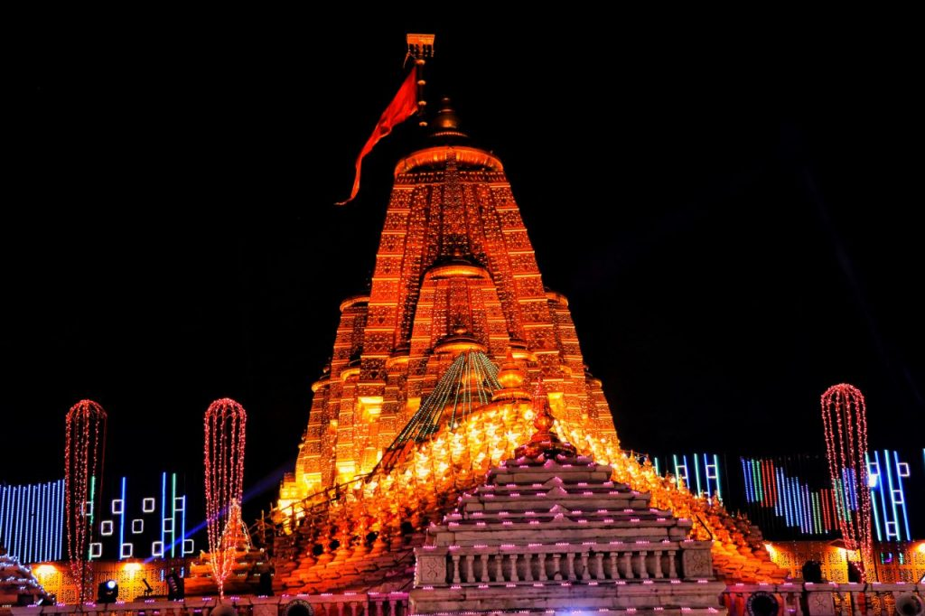 temple view in night