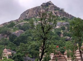 Gabbar (or Gabbargadh), a small hillock about four km to the west of Ambaji village, is believed to have been the original seat of the goddess.