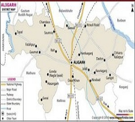 District Aligarh - Map