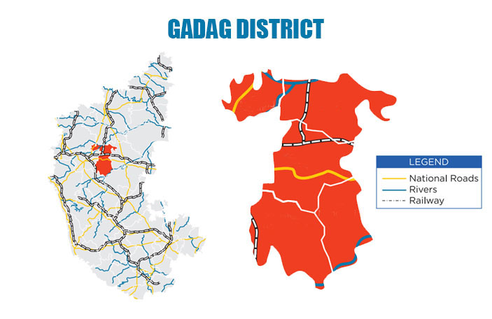 District Profile Map of Gadag