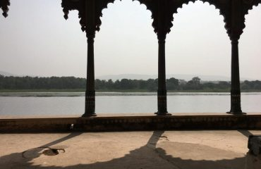 View of pond from Fort
