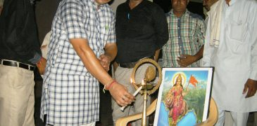 The program started by lamp lighting by elder elder Dipchand and chief guest of the village