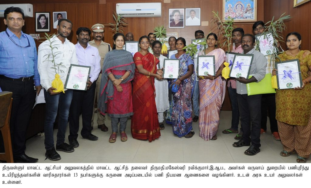 Compassionate ground Appointment Orders issued on 04.01.2019