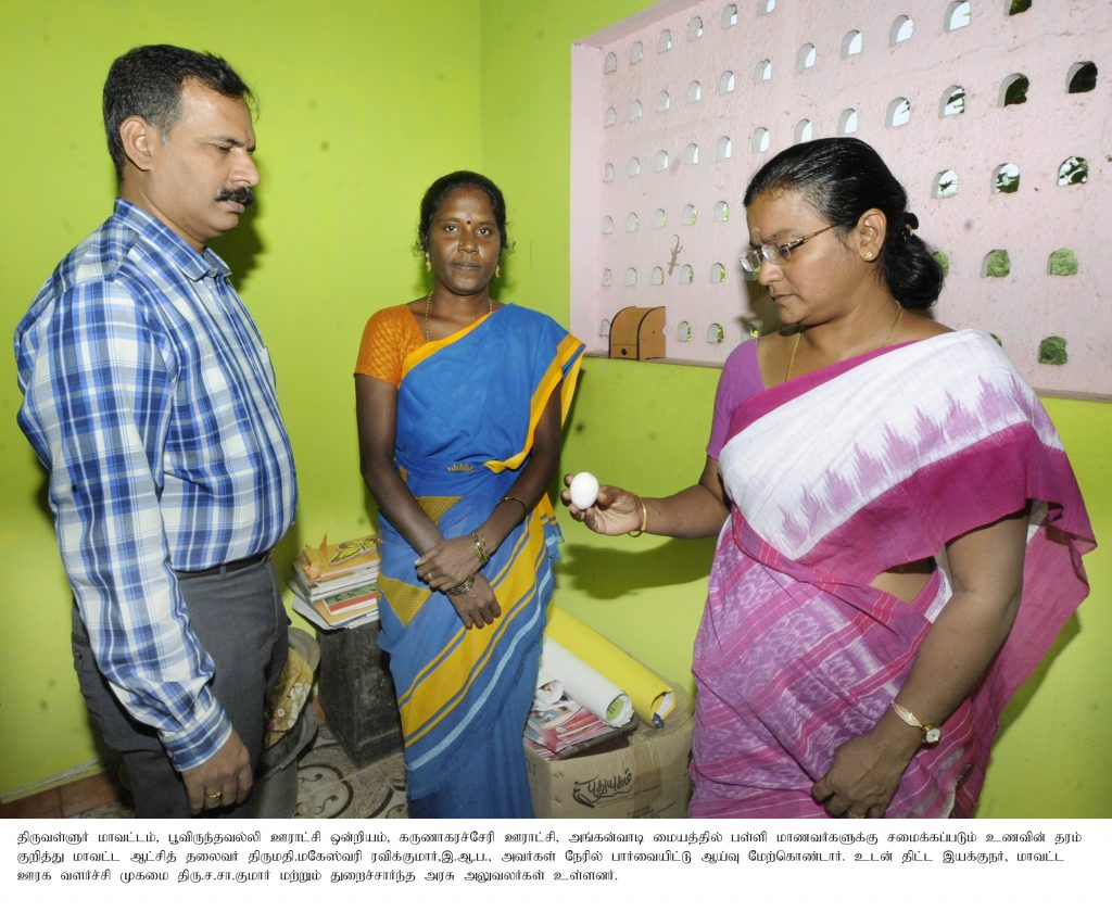 Inspection by the District Collector on 08.01.2019