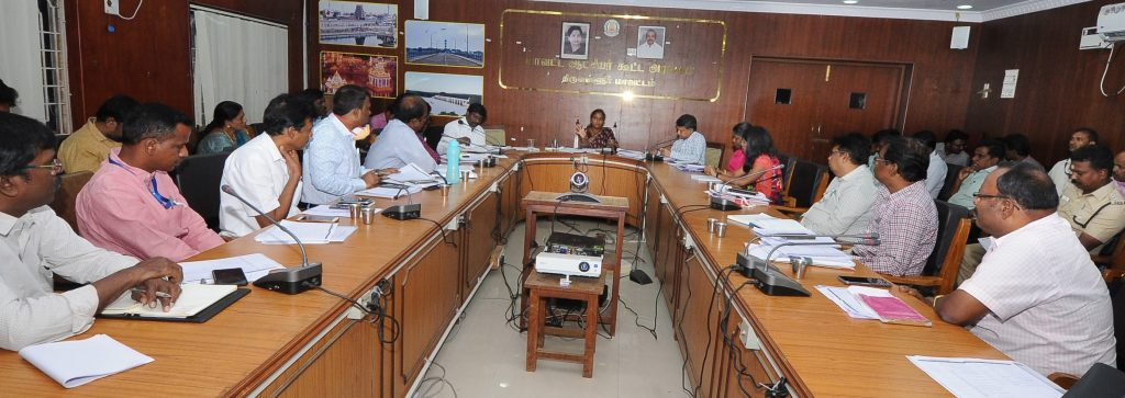 Collector Meeting to discuss modalities of imposition of curfew under Criminal Procedure Act Sec. 144 on 24.03.2020.