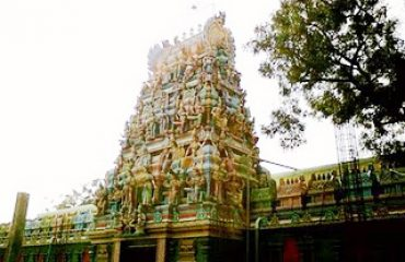 Bhavani Amman Temple Gopuram Side View