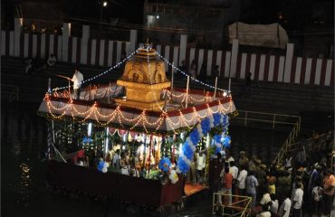 Temple Theppam Night View