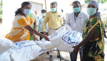Distribution of Corona Relief Materials to Irular Community by the District Collector on 17.04.2020.