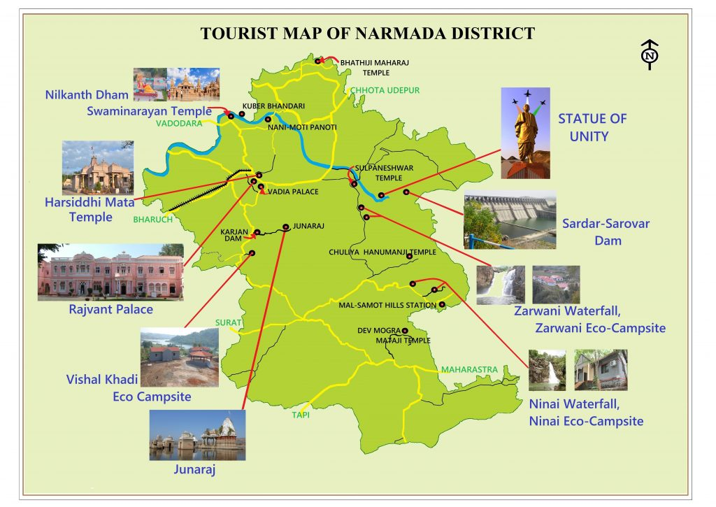 TOURIST MAP NARMADA