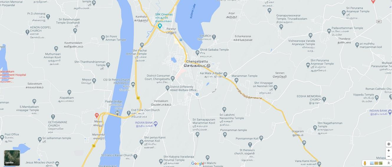 Chengalpattu Map