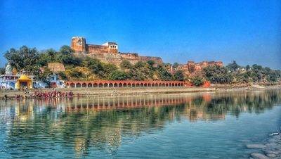 Akhnoor Fort Jammu-View from Other Side of River Chenab