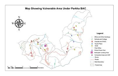 VULNERABLE AREA UNDER PARAKHA BAC