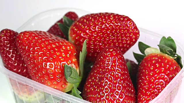 fresh strawberries in pack