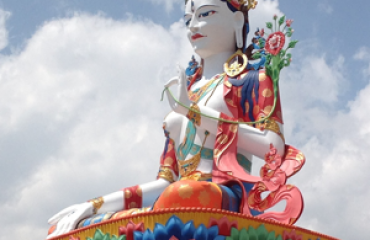 Dolma Lhakang is the statue of goddess dolma built by His holiness(The White Tara) The 13th Tsona Rimpoche in Lumla , Tawang