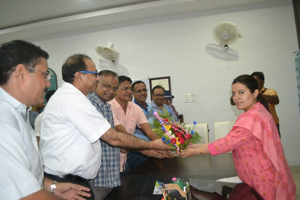 Welcoming new Deputy Commissioner of Giridih District.