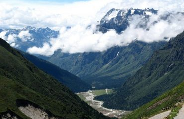 Yumthang Valley during clear sunny day