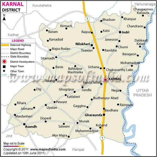 जिले का मानचित्र