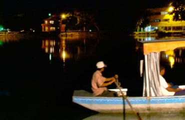 karna-lake-boating-at-night