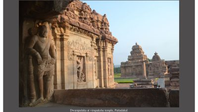 Dwarapalakas Virupaksha Temple in Pattadkallu