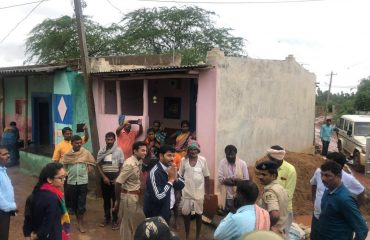 Dc sir visit to Korlakoppa village and requesting villagers shift