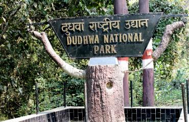 दुधवा राष्ट्रीय उद्यान मुख्य द्वार की फोटो