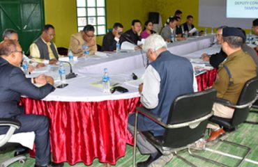 Cabinet Meeting at Tamenglong DHQ