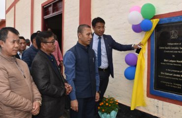 Education Minister inaugurating Tamenglong Sports Complex