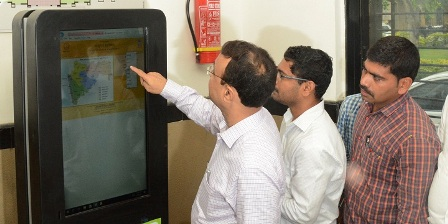 Image of Inaguration of Kiosk Machine by Collector