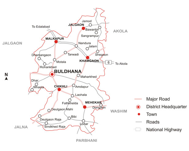 Buldhana District Map
