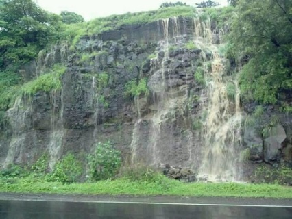 Image of Waterfall on road of Rajur Ghat