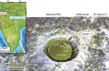 Image of Area View of Lonar Creater Lake