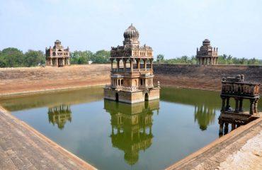 Santhebennur Pushkarani Left Side View ,Santhebennur