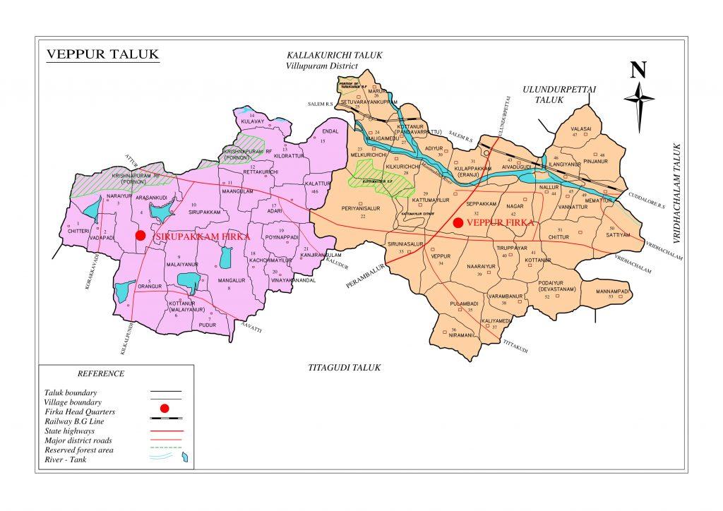 Vepur Taluk Map