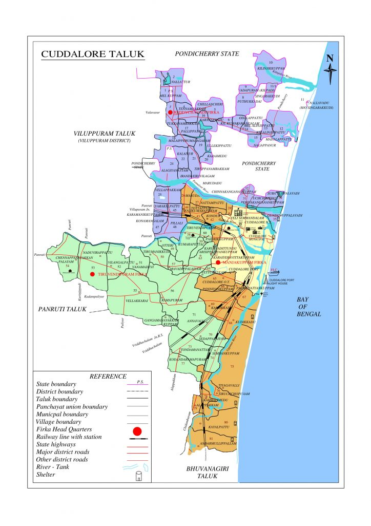 Cuddalore Taluk map