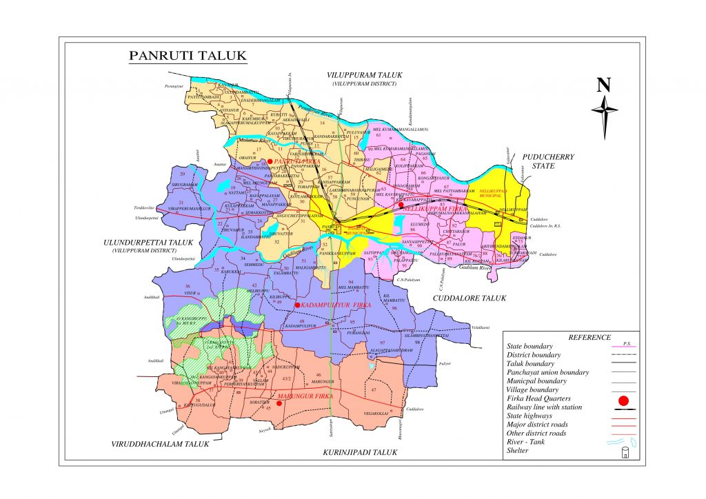 Panruti Taluk Map