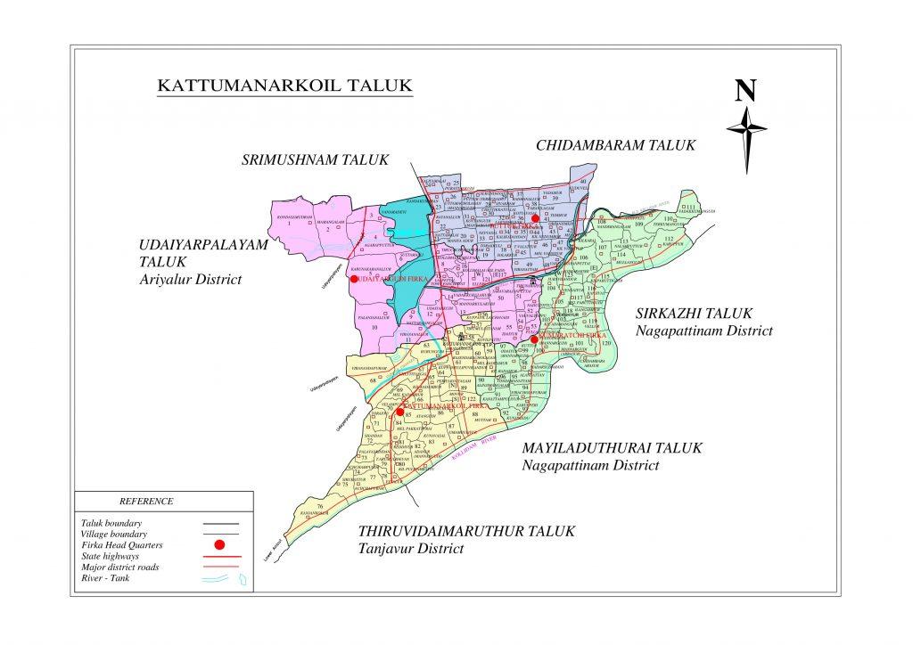 Kattumannarkoil Taluk Map