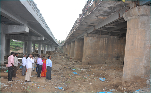 Bhuvanagri Vellar Bridge Inspection