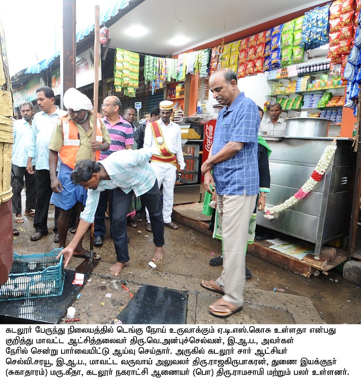 Collector Dengue inspection at Bus stand