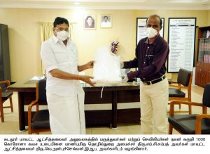 minister donate medical dresses
