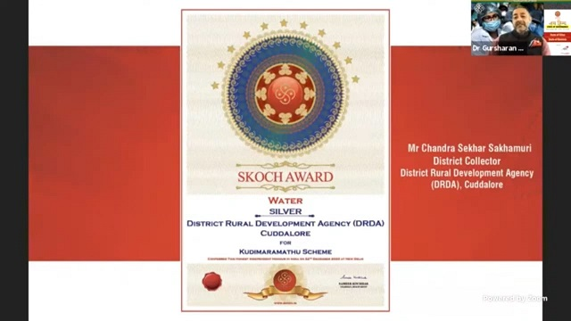 Silver Award for Cuddalore District Collector