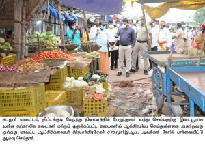 Inspection on Removal of Aggression at Tittakkudi bus stand
