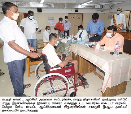 Interview of disabled persons