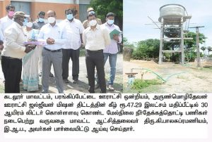 Inspection of various projects carried